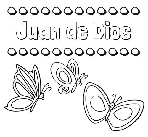 Nombre Juan de Dios: Imprimir un dibujo para colorear de nombres y ...