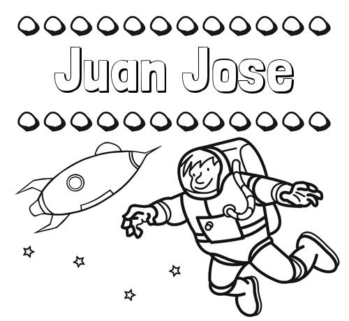 Nombre Juan Jose: Dibujo de nombres en el espacio para imprimir