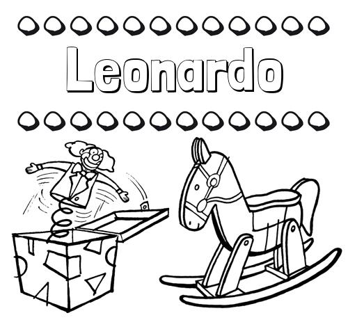 Nombre Leonardo Colorear Los Nombres Dibujo Con Juguetes
