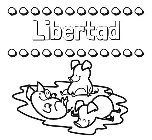 Nombre Libertad Dibujos Para Colorear Nombres Y Los Tres