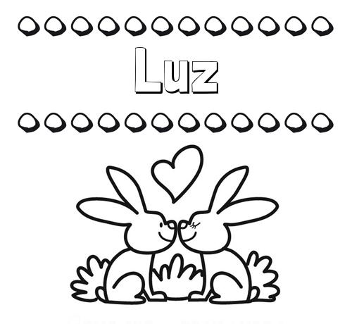 Dibujos con el nombre Luz para colorear e imprimir
