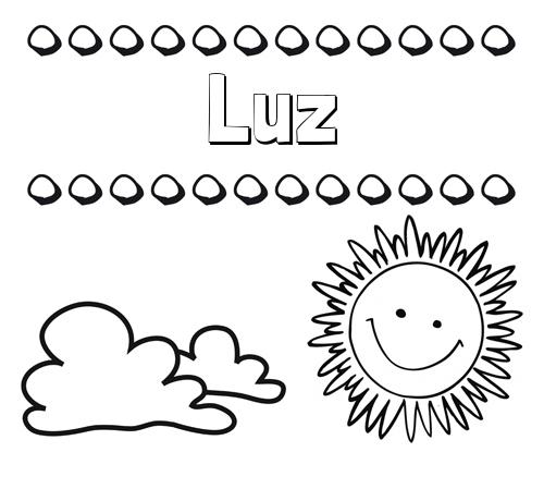 Nombre Luz: Dibujo de nombres en el cielo para pintar