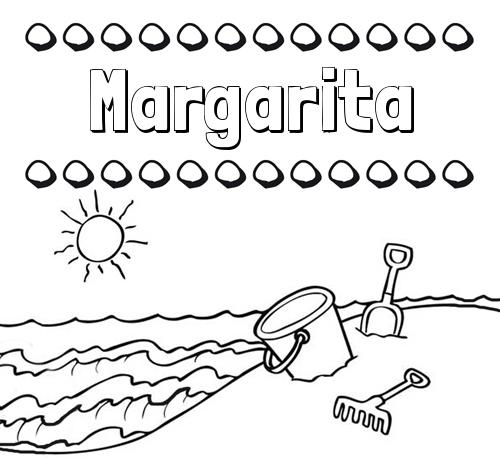 Nombre Margarita Nombres En La Playa Dibujos Para Colorear