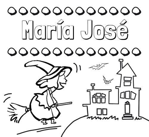 Dibujos Con El Nombre María José Para Colorear E Imprimir