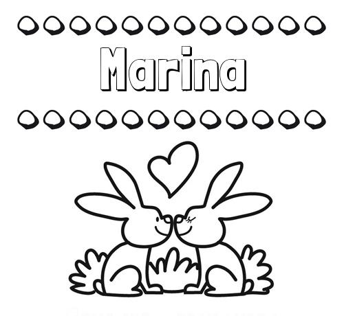 Nombre Marina: Colorear Las Letras De Los Nombres Con