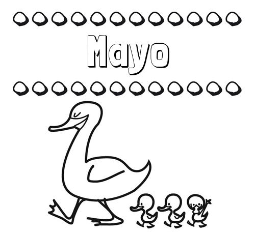 Nombre Mayo Patos Dibujos De Nombres Para Imprimir