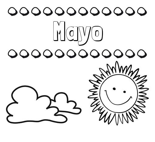 Nombre Mayo Dibujo De Nombres En El Cielo Para Pintar