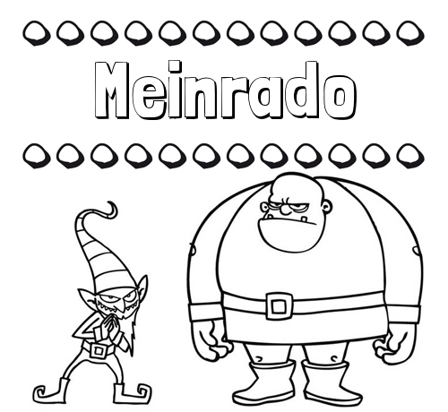 Aprender a colorear su nombre, un ogro y un duende