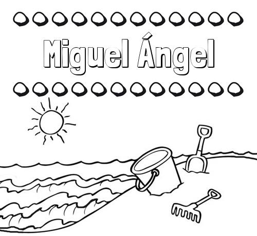 Dibujos con el nombre Miguel Ángel para colorear e imprimir