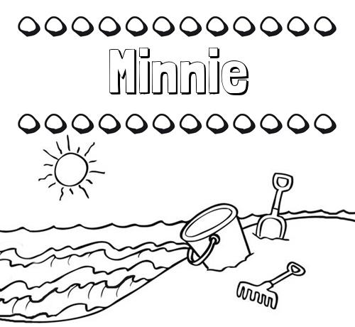 Nombre Minnie Nombres En La Playa Dibujos Para Colorear