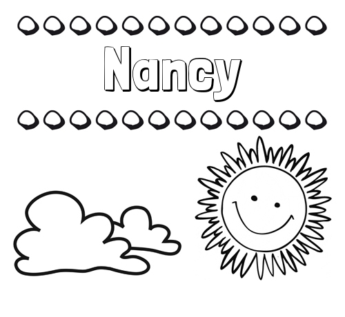 Nombre Nancy: Dibujo de nombres en el cielo para pintar