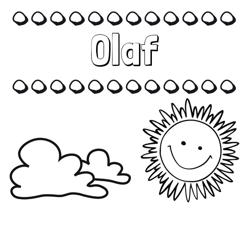 Nombre Olaf: Dibujo de nombres en el cielo para pintar