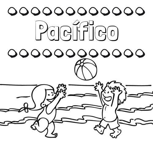 Nombre Pacífico: Hacer un dibujo del nombre en la playa