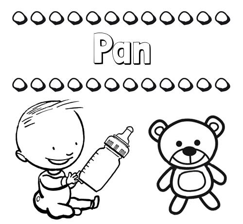 Nombre Pan Divertidos Dibujos De Nombres Peluche Y Bebé
