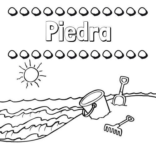 Nombre Piedra Nombres En La Playa Dibujos Para Colorear - Dibujos-para-pintar-piedras