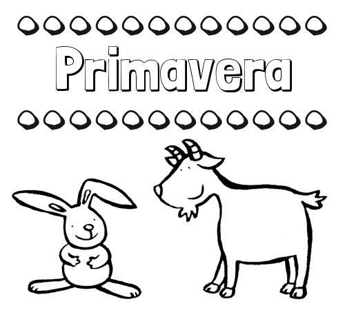 Nombre Primavera Dibujos Para Niños Su Nombre Con Animales