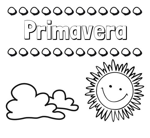 Dibujos con el nombre Primavera para colorear e imprimir