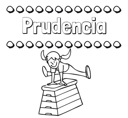 Nombre Prudencia: Dibujos infantiles para imprimir: su nombre y niña ...
