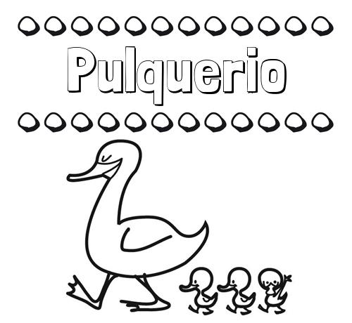 Patos: dibujos de nombres para imprimir