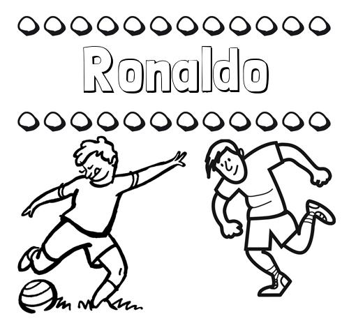 Nombre Ronaldo: Dibujar las letras de nombres y fútbol