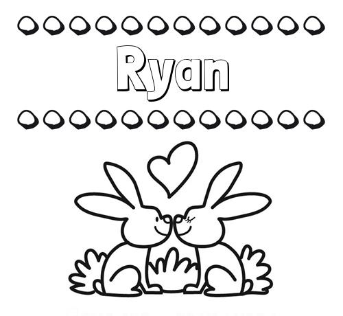 Colorear las letras de los nombres con conejitos