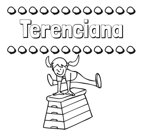 Dibujos infantiles para imprimir: su nombre y niña jugando