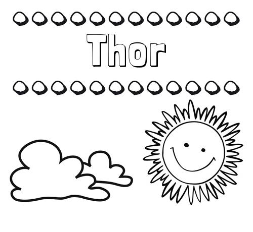 Nombre Thor Dibujo De Nombres En El Cielo Para Pintar