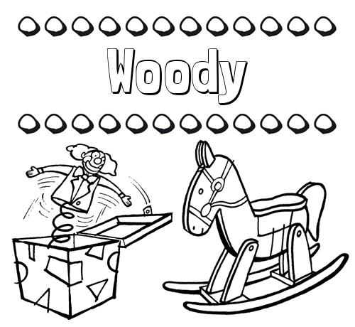 Nombre Woody Colorear Los Nombres Dibujo Con Juguetes