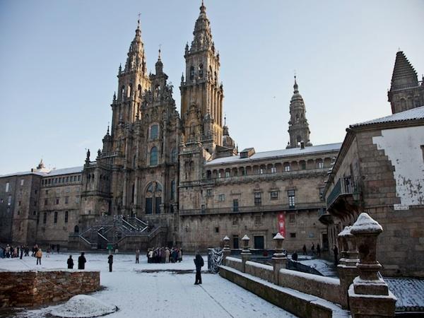 La Plaza do Obradoiro y la Catedral de Santiago de Compostela, A Coruña