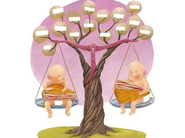 Rbol geneal gico para beb s for Nombres de arboles en ingles