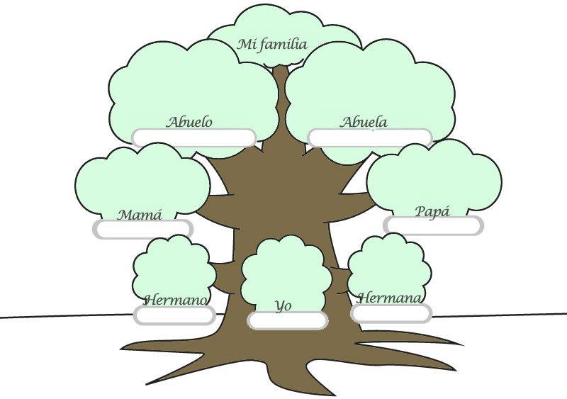 árbol Genealógico Para Completar