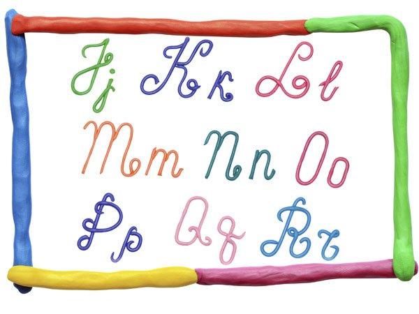 Alfabeto en may scula y min scula de plastilina - Letras decorativas para ninos ...