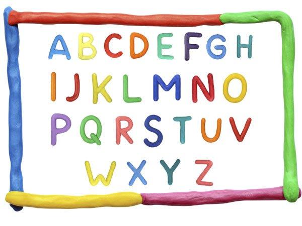Letras de plastilina de colorea para aprender el abecedario - Literas divertidas para ninos ...