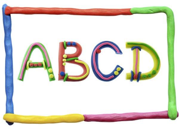 Letras del alfabeto con plastilina de colores - Literas divertidas para ninos ...
