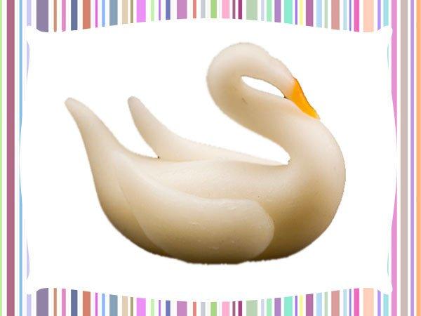 Cisne de plastilina. Imágenes de manualidades