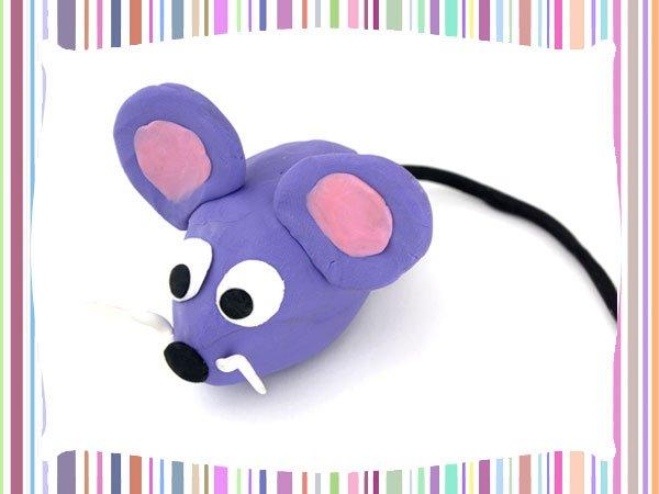 Ratn de plastilina Manualidad para nios