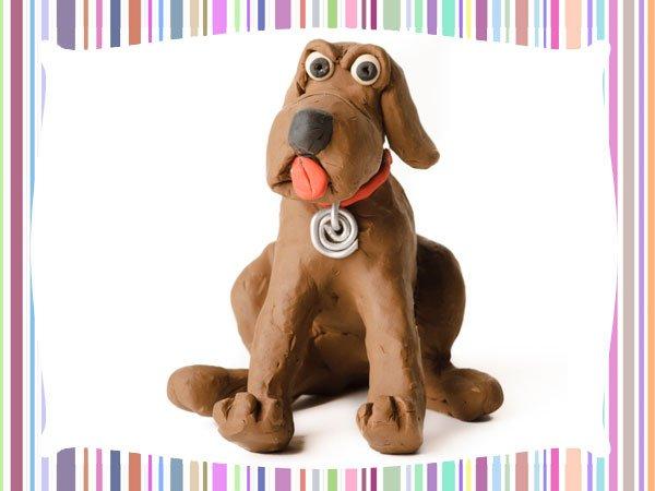 Perro de plastilina. Manualidades de animales