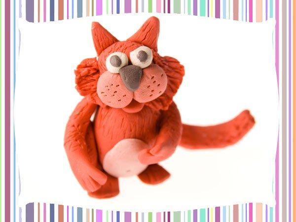 Gato de plastilina. Manualidades para niños