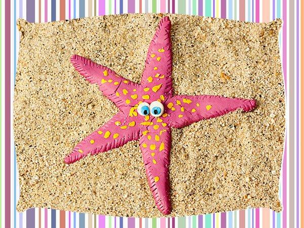 Estrella de plastilina. Manualidades infantiles