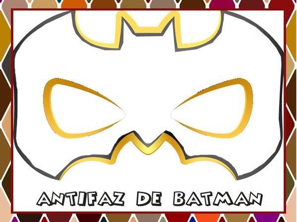 Antifaz de Batman para colorear en Carnaval