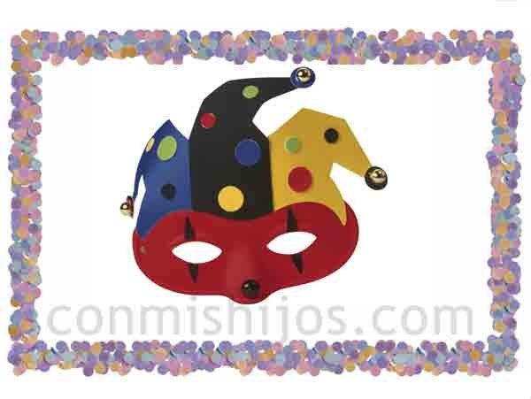 Antifaz de arlequín. Máscaras de fantasía para Carnaval