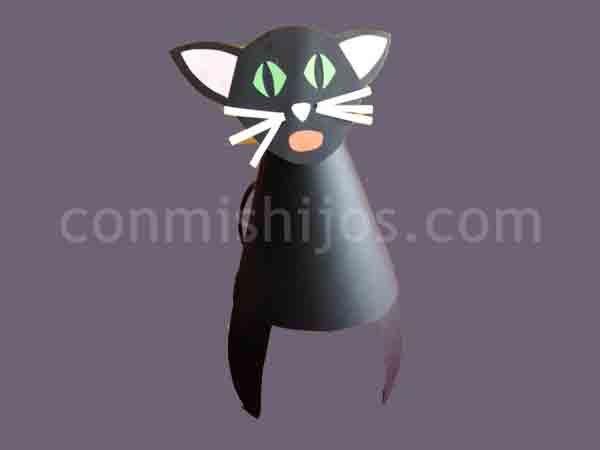 Sombrero de gato. Manualidad de Carnaval para niños