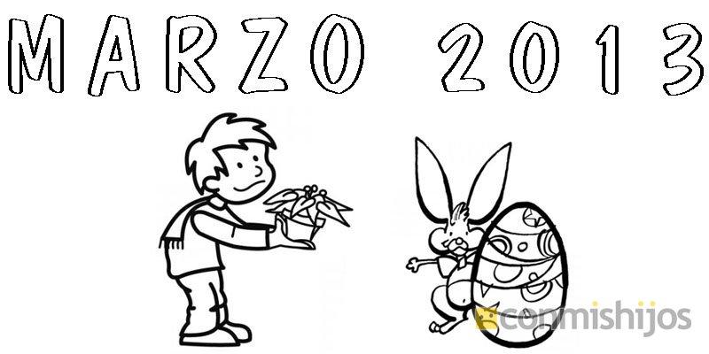 Dibujo De La Palabra Otoño Para Colorear Con Los Niños: Mes De Marzo De 2013