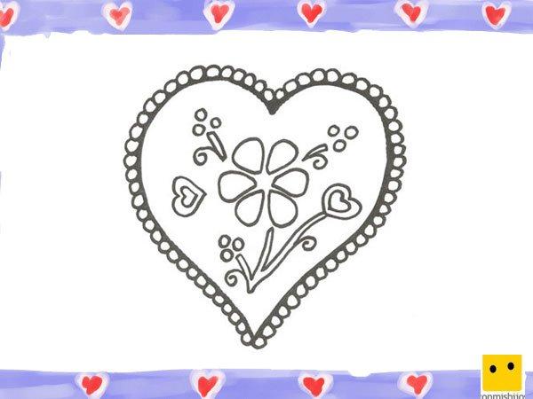 de un corazn con una flor para nios