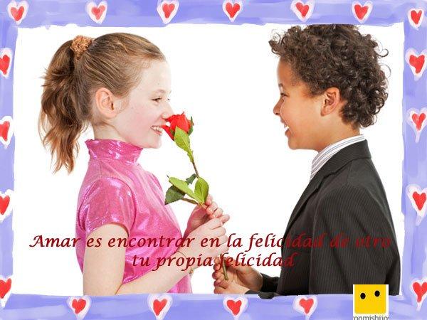 Frases De Amor Imagen De Ninos Enamorados
