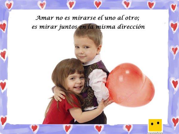 Frases De Amor Imagen De Ninos Con Un Globo Corazon