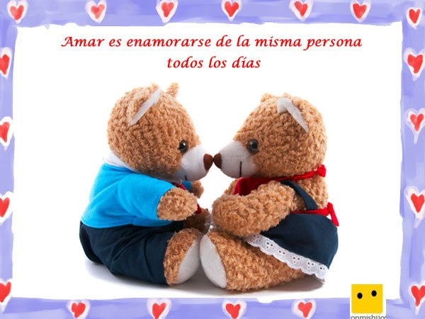 Frases De Amor Imagen De Peluches Enamorados