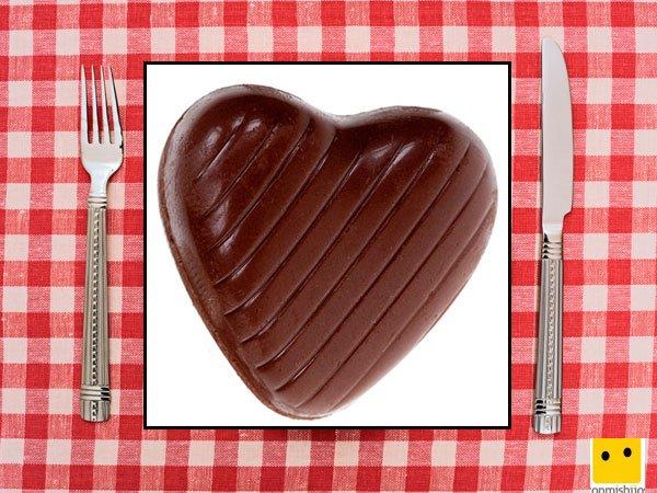 Recetas dulces para niños. Bombones de corazón con chocolate