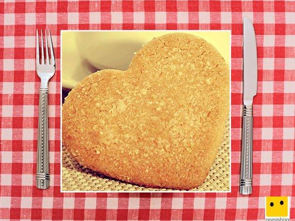 Recetas dulces para niños. Galletas de avena en corazón