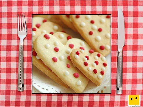 Recetas dulces para niños. Galletas de corazón con lunares